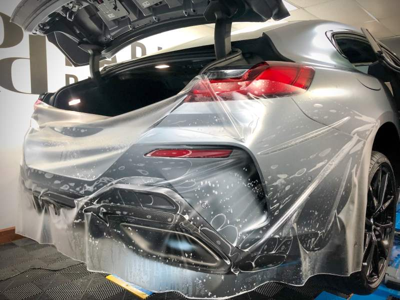 BMW 850i Rear PPF Installation