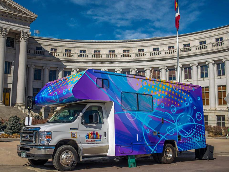 Unidad móvil Denver coronavirus