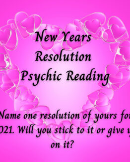 New Years Resolution Psychic Reading By Email 100-150 Words