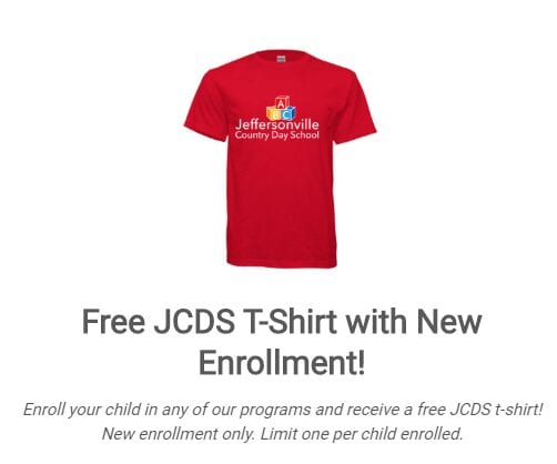 Free JCDS T Shirt With Enrollment