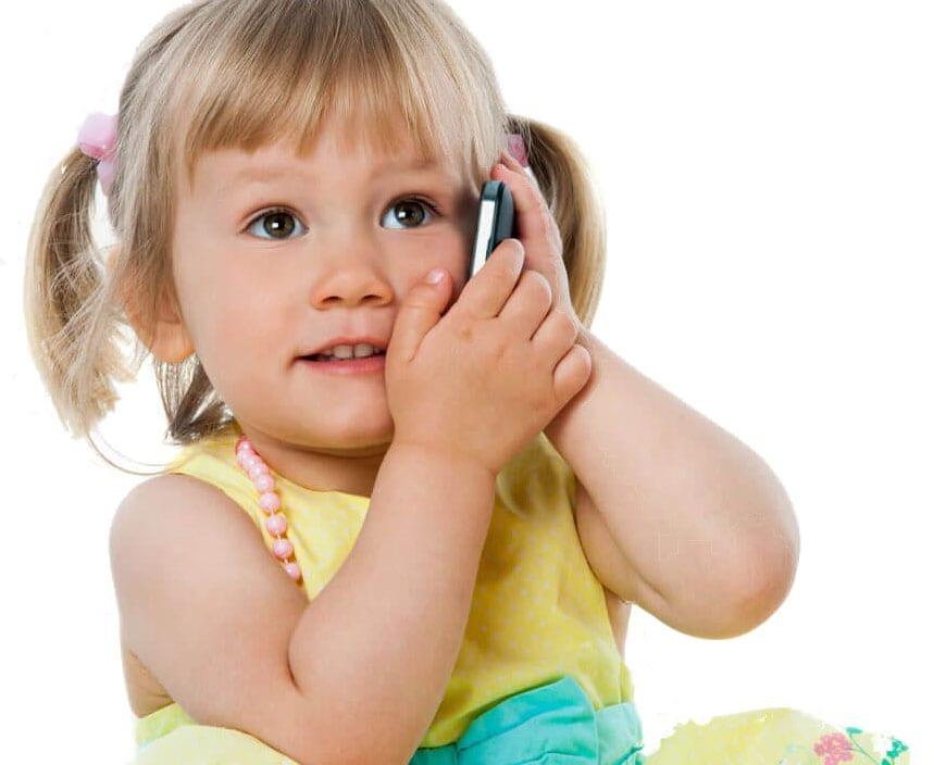Little Girl on Phone