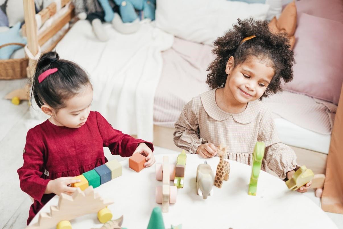 Children in daycare facility