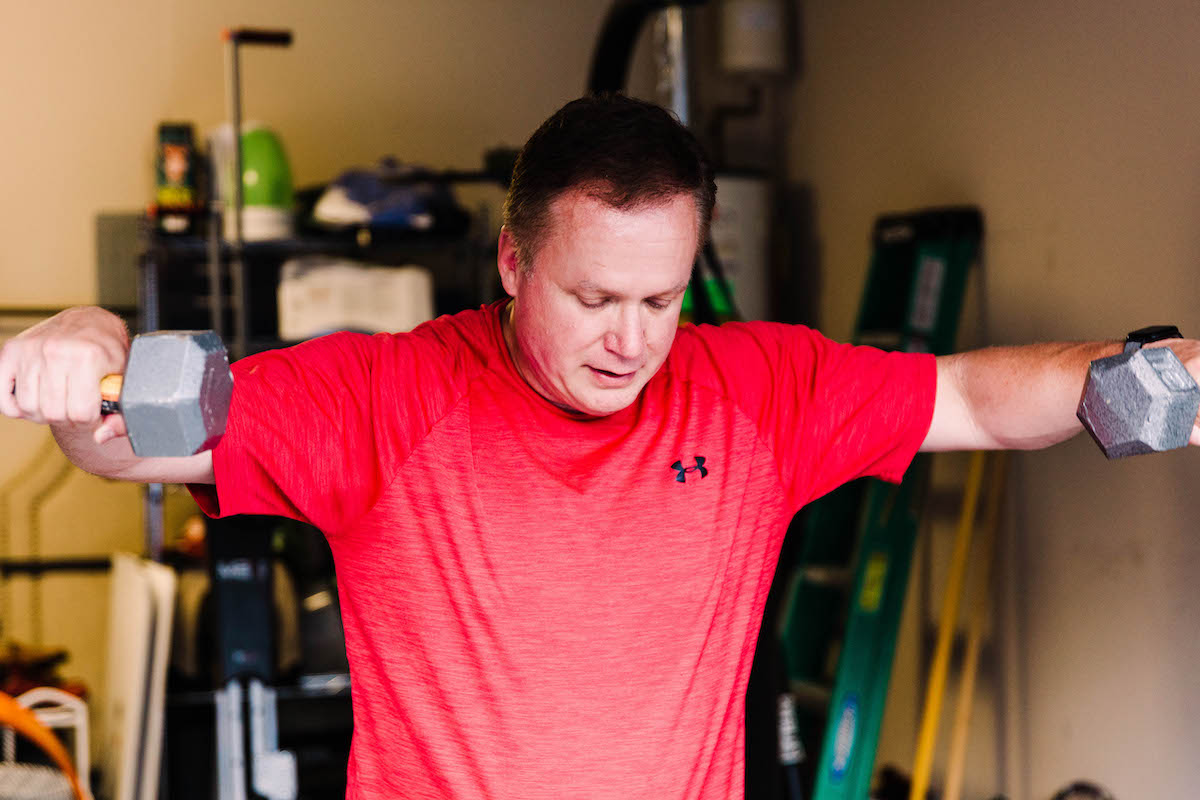 Arm raises as personal training, personal fitness, and one on one fitness regiment