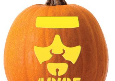 Dude Abides Lebowski Pumpkin Pattern
