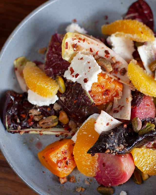 brunch Roasted Beets and Endive Salad Farmers Market Fresh Shared plates vegetarian Small plates