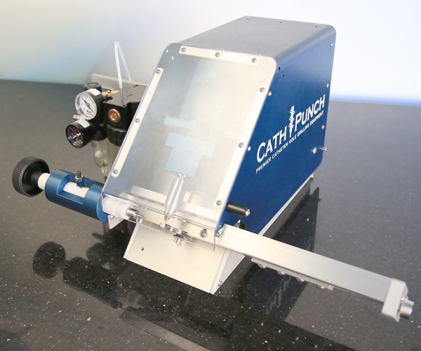 catheter hole drilling machine