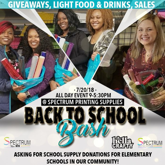 Back to School Bash Spectrum Printing Supplies