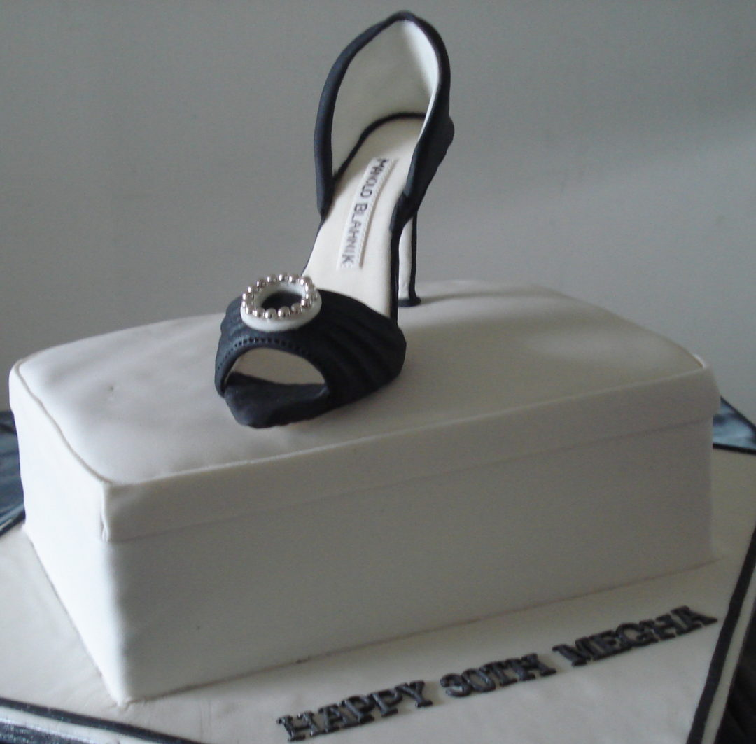 Manolo Blahnik 30th birthday cake, Gum Paste shoe cake