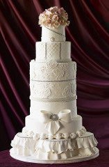 Bling, Sugar lace, Brush embroidery, Fondant, Tiered cakes, Ruffles, Icing ruffles, Celebration cakes, Gum Paste, Roses, Gum Paste roses,