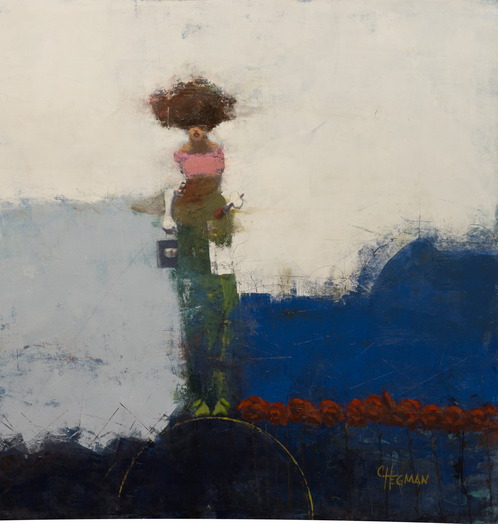 """1_Cathy Hegman-""""Painted Roses""""-36x36-oil on wood"""