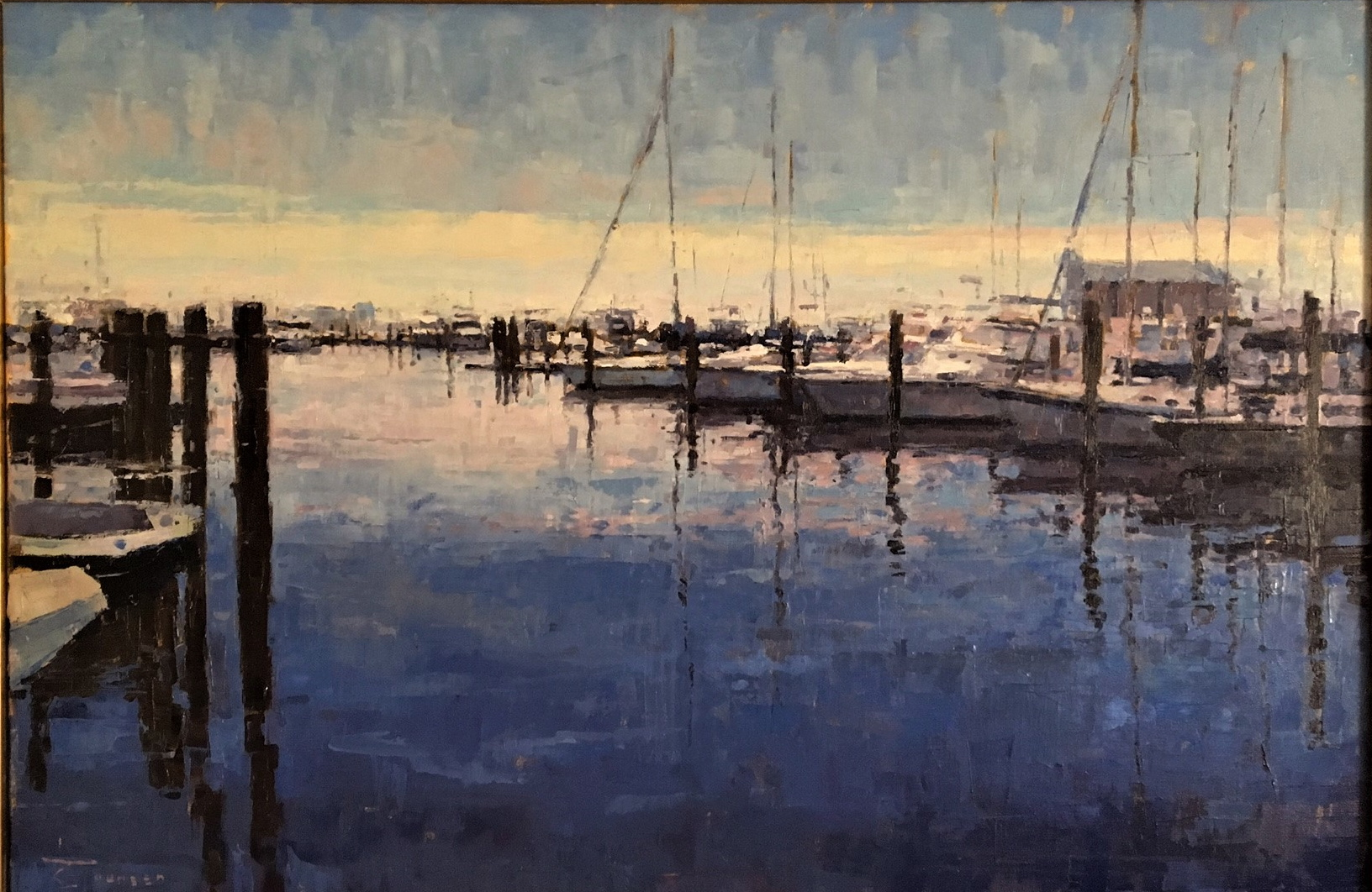 Curtis Stewart Jaunsen-Harbor at Dusk, Mississippi Coast, 24x36(1)