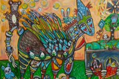 Holly Atkinson-Birdwings,Bears & Bubbles-18x24