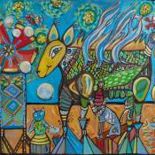 Holly Atkinson-Windmill and Pinwheel 18x24