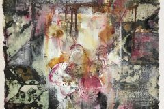 Mary-Hardy-With-a-Flower-Lying-On-It-mm-on-handmade-paper-32x30-1-scaled