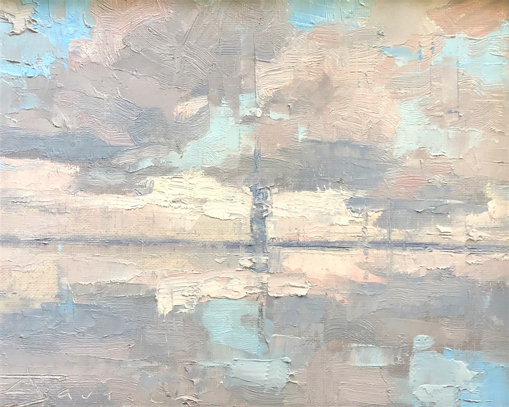 "Curtis Stewart Jaunesn--8x10""-Reflected Sky""."