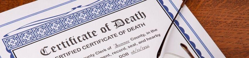 A California death certificate document.