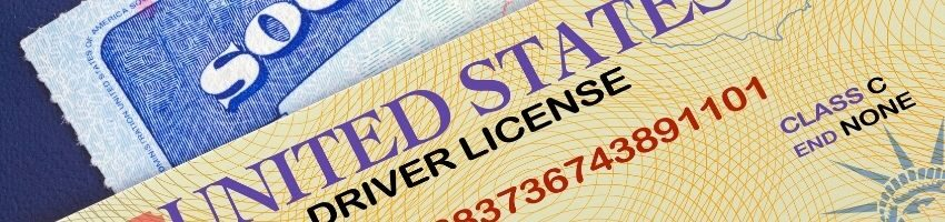 A close up of a drivers license.