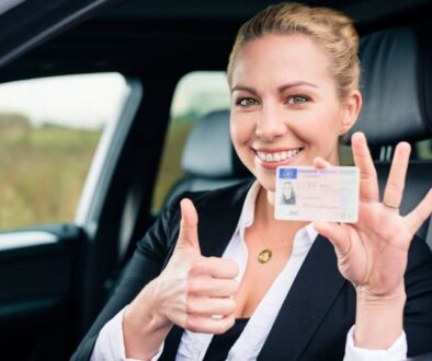 A citizen of ohio got his driver license and took a picture of holding it