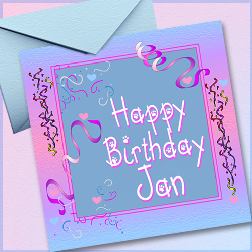 Happy Birthday, Jan Price (L)