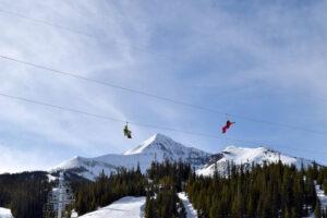 ziplining is one of the numerous winter activities in Big Sky
