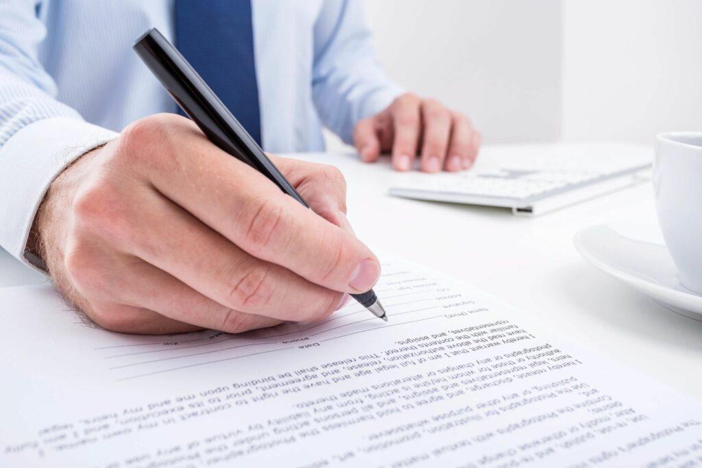 attorney preparing trusts and estates legal documents