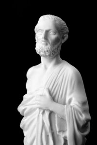 bust of hippocrates creator of hippocratic oath