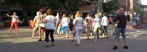 Promotion, événements et danse extérieure danse en ligne urbaine