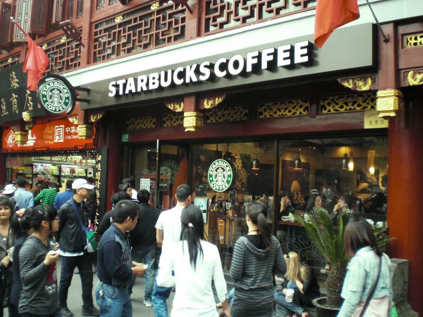 global coffee giant Starbucks in China - food tech news in Asia