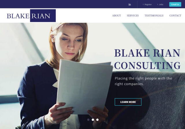 Blake Rian Consulting website