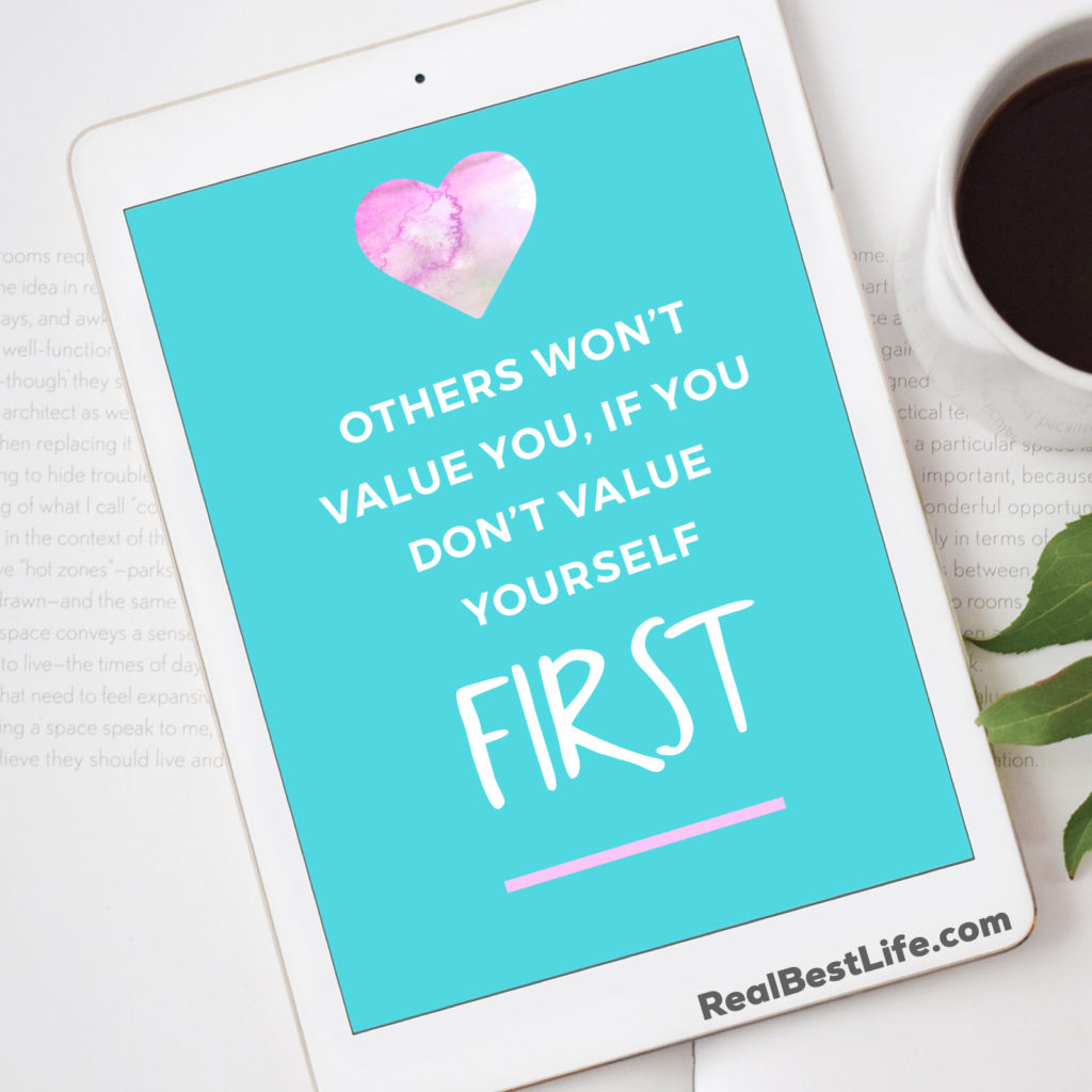 Value yourself by saying no