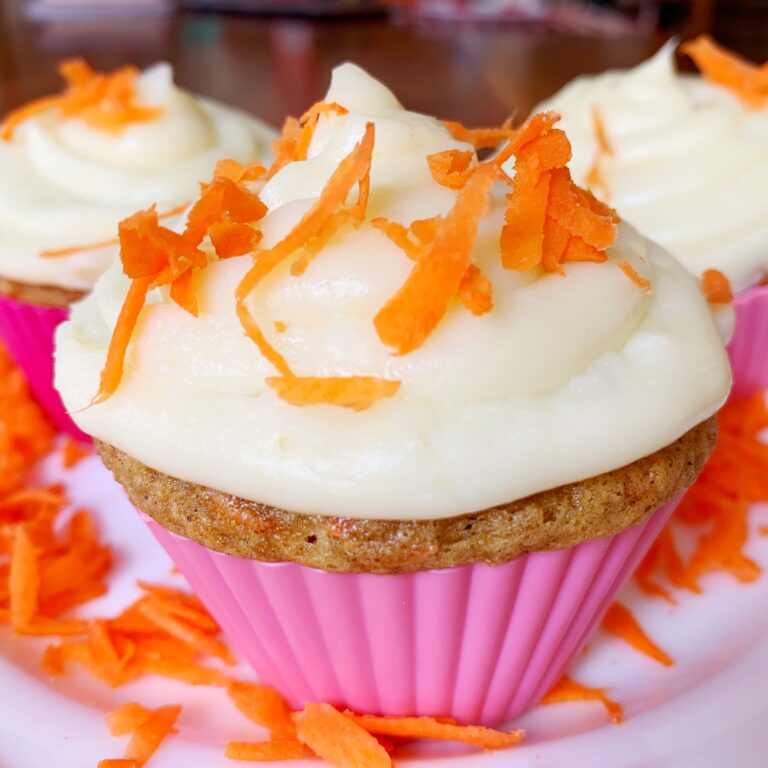 carrot cake cupcake cream cheese frosting