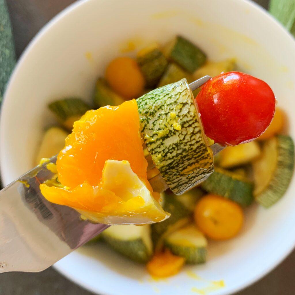 Egg hash zucchini