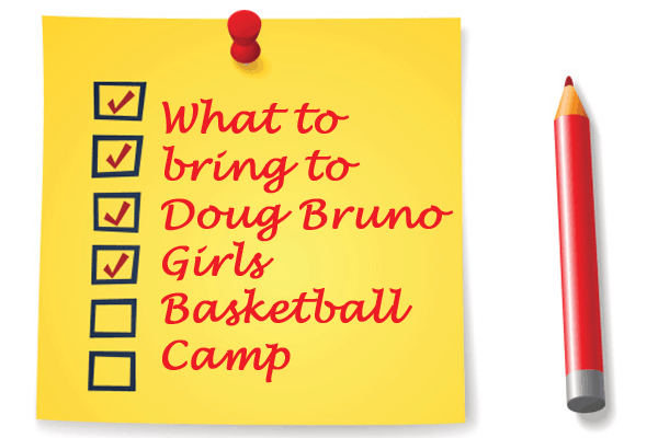 what to bring to girls basketball camp