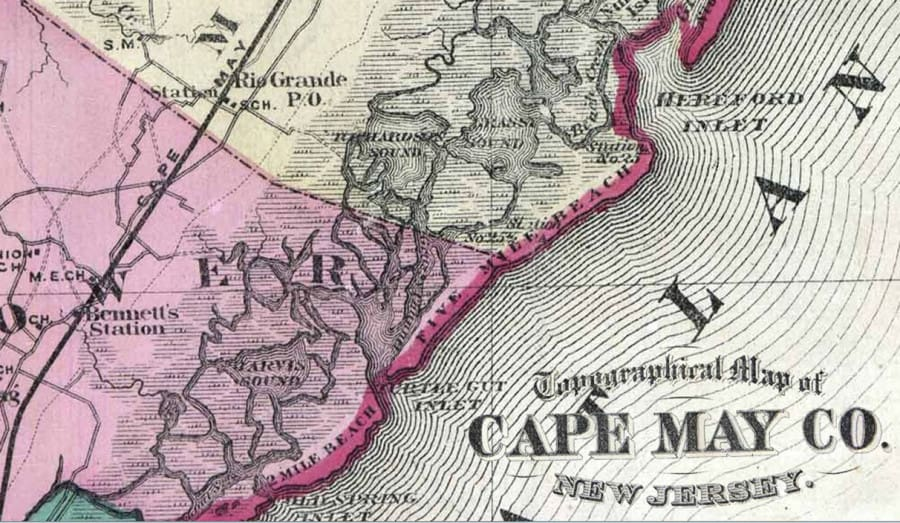 1890 Wildwood Map Wildwood Video Archive