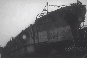Launching of A Concrete Ship