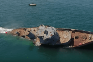 Watch A Ship Sink Off of Cape May