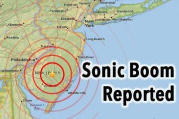 Sonic Boom Felt In South Jersey