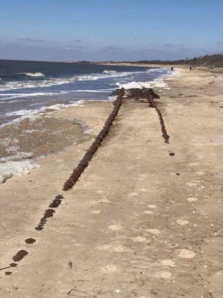 Cape May Abandoned Beach Train Tracks Appear