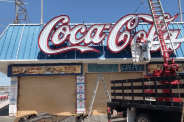 Coca-Cola Sign Gets Installed!
