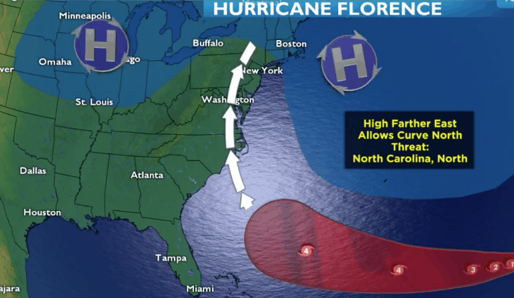 Here is the latest on Hurricane Florence according to the National Hurricane Center (NHC) and our very own SNJ.com's NorEasterNick.
