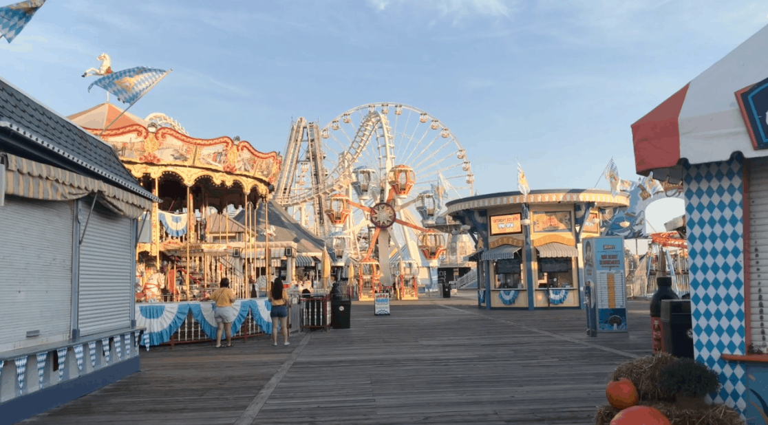 Morey's Piers Is Closed For The Season (Video)