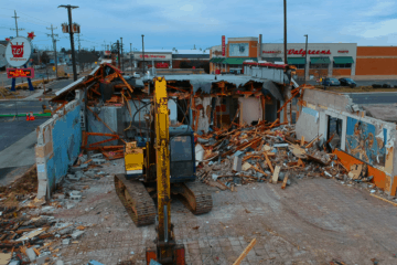 McDonald's Demolition Drone Video