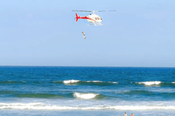 Man Jumps Out Of Helicopter In Wildwood