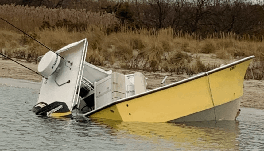 Crashed Boat Raised In Cape May