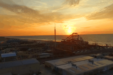 Sunrise Over Surfside Pier (Drone)