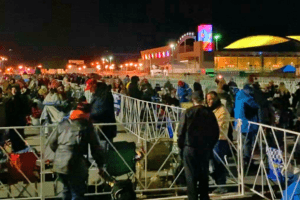 The Night Before Trump's Arrival In Wildwood