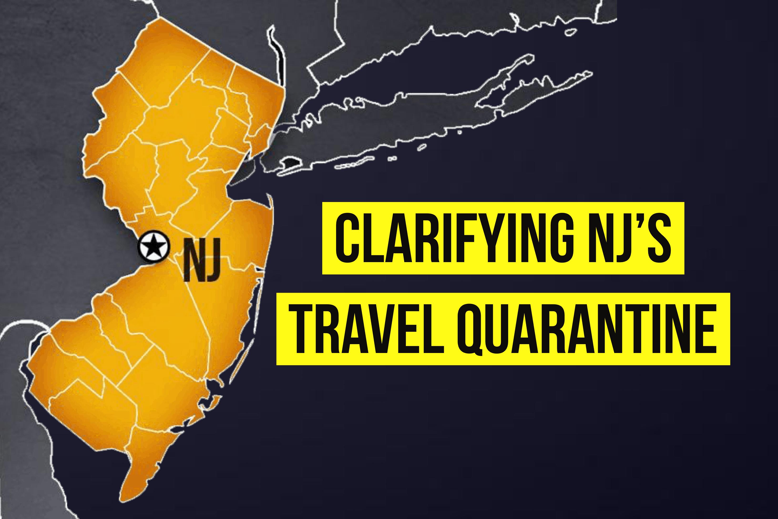 Clarifying NY NJ and CT Travel Quarantine