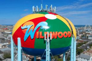 Wildwood Water Tower Gets A Beach-Ball Makeover!