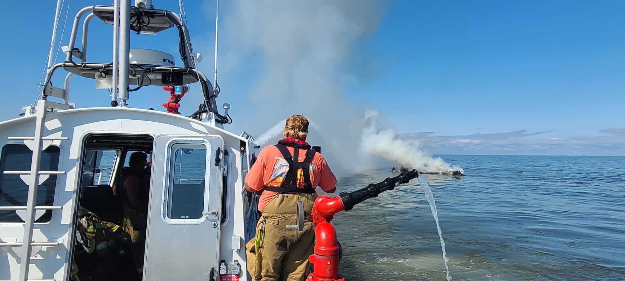 Firefighters Put Out Boat Fire On Delaware Bay
