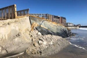 Hurricane TeddyCreates Beach Erosion In N. Wildwood